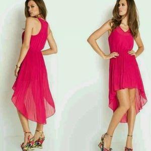 GUESS Kaleidos Sleeveless Pleated Dress M